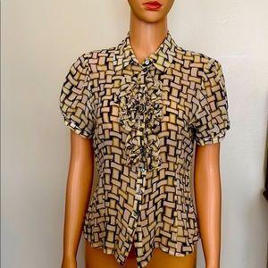 Elegance silk short sleeves top